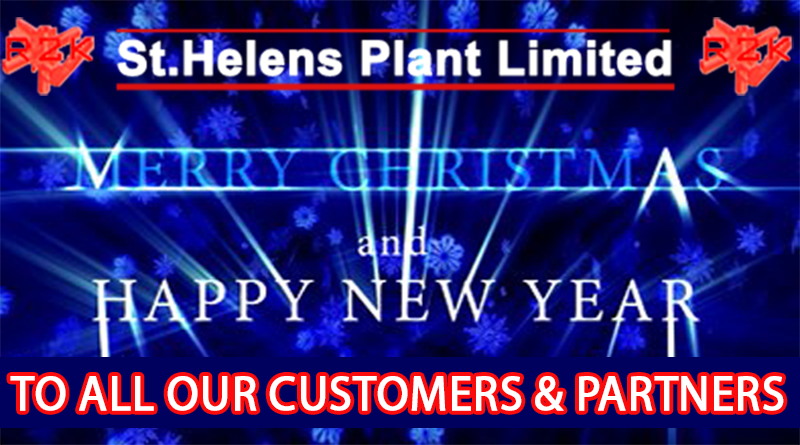 ST HELENS PLANT WISHES A MERRY CHRISTMAS & A HAPPY NEW YEAR