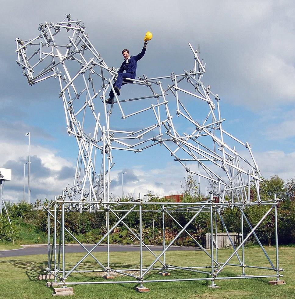 Ben Long Scaffolding Sculptures