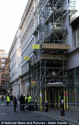 scaffolding pole incident - London