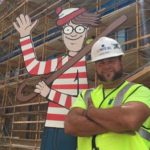 Kind-Hearted Construction Worker Makes Giant Find Waldo Game for Hospital Kids
