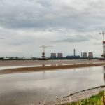 The Mersey Gateway Cranes – Extended to Full 479ft Height