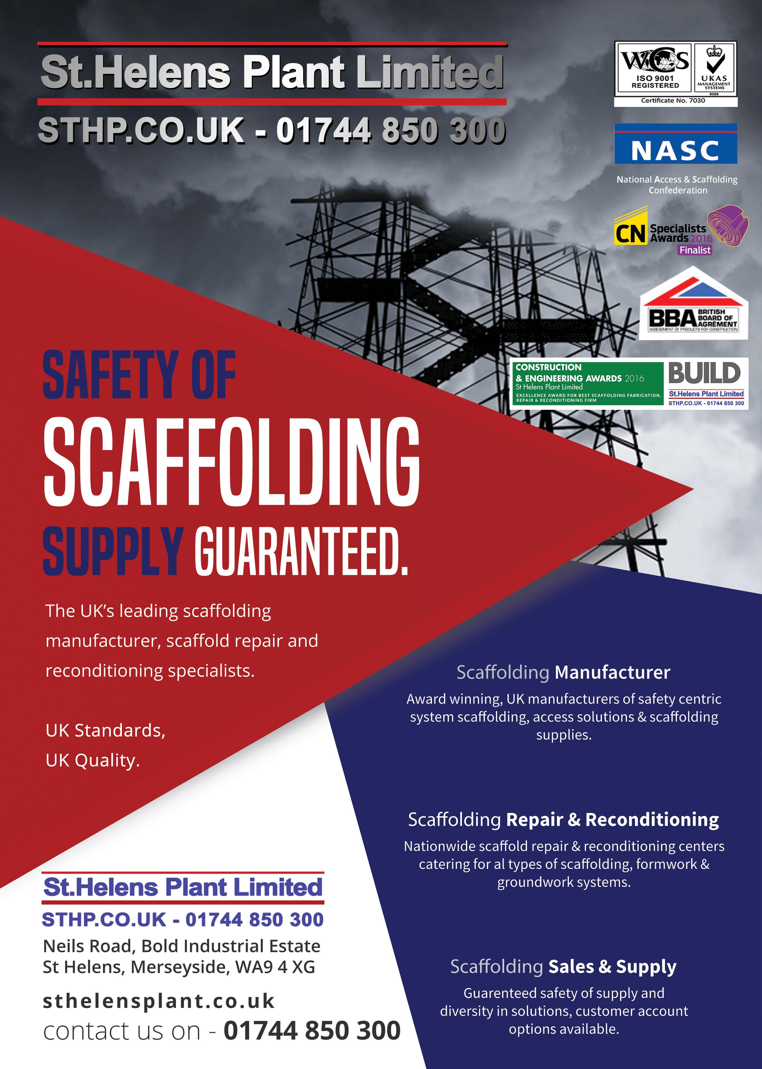 Scaffolding Supplies - Scaffolding Supplier - St Helens Plant