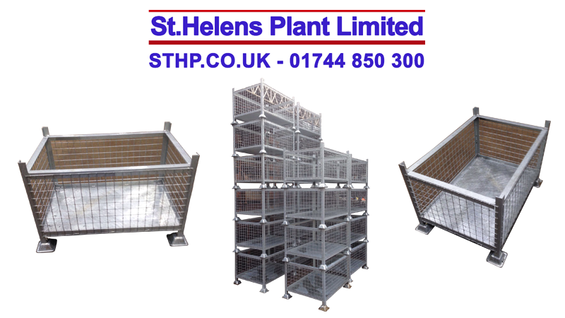 Large Galvanised - Metal Mesh Steel Bin