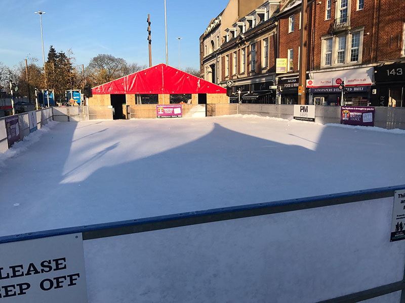 Ice Rink Refurbishment - By St Helens Plant in Association with Pro Marquee Events
