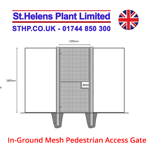In-Ground Mesh Pedestrian Access Gate