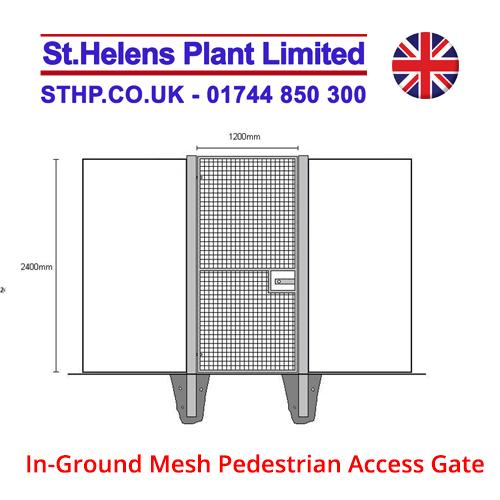 In-Ground Mesh Pedestrian Access Gate