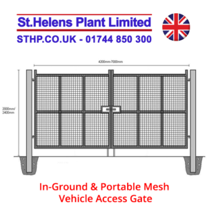 In-Ground & Portable Mesh Vehicle Access Gate 2