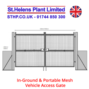 In-Ground & Portable Mesh Vehicle Access Gate
