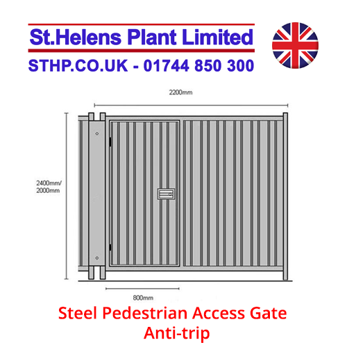 Steel Pedestrian Access Gate – Anti-trip