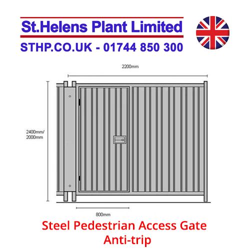 Steel Pedestrian Access Gate – Anti-trip