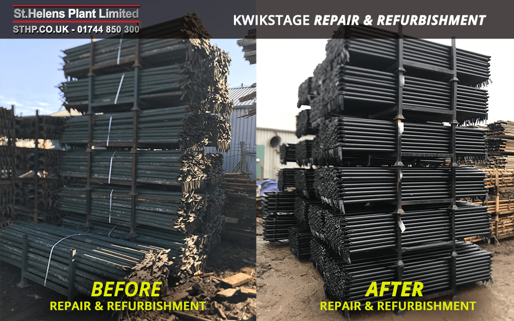 before and after - kwikstage refurbishment