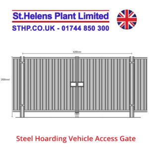 steel hoarding gate