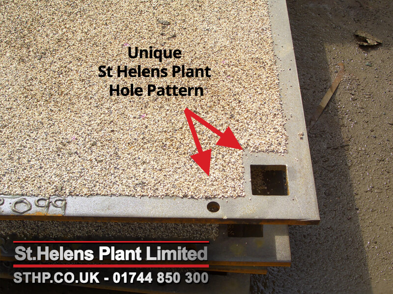 SHP road plate hole pattern