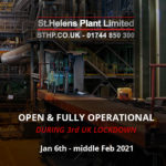 St Helens Plant Remain Open During the 3rd UK Lockdown