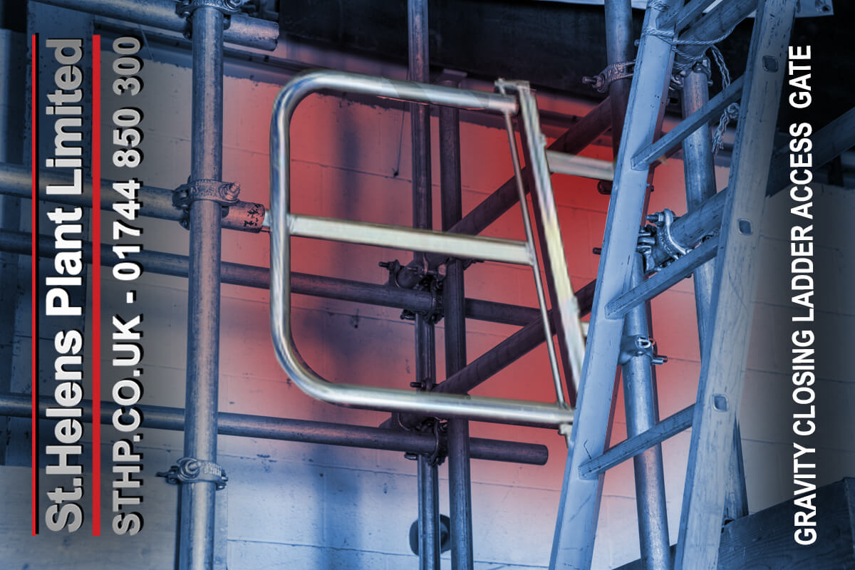 Gravity Closing Ladder Access Gate - St Helens Plant 1