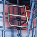 Gravity Closing Ladder Access Gate: Genuine British Made Scaffold Product