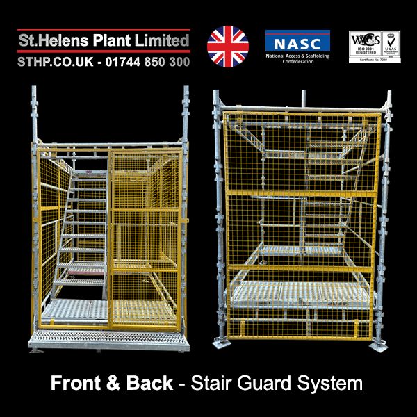 front and back - stair guard system