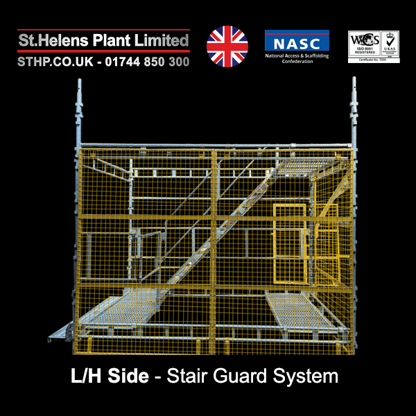 stair guard system - LH side
